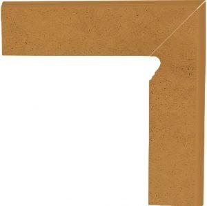 Cokół dwuelementowy schodowy Paradyż Aquarius Brown prawy 30x8,1x1,1