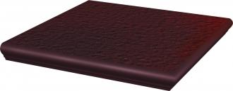 Stopnica z kapinosem narożna strukturalna Paradyż Cloud Duro Brown 33x33x1,1