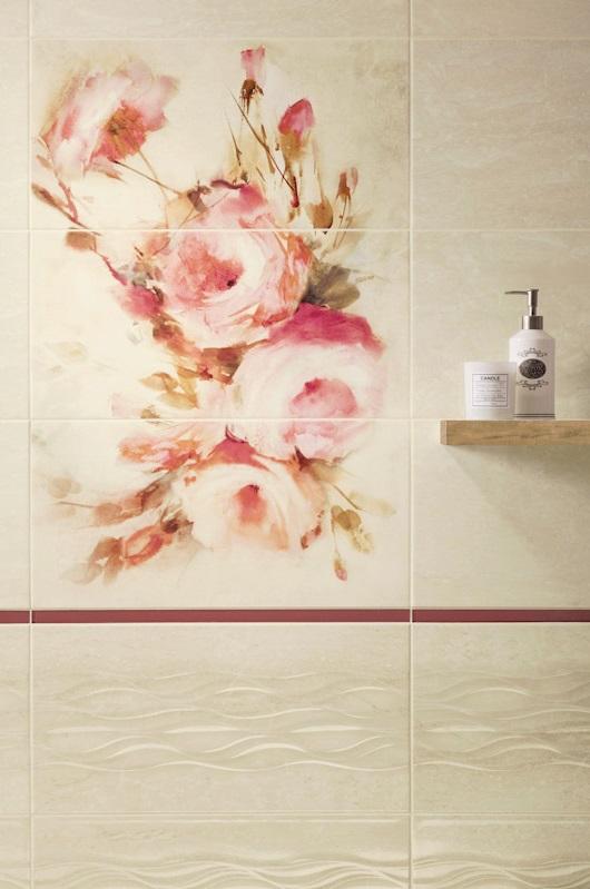 Zdjęcie Dekoracja ścienna Paradyż Coraline Panel Róże 60×90