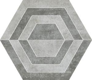 Dekoracja podłogowa Paradyż Scratch Grys Heksagon A 26x29,8cm Mat