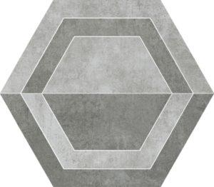 Dekoracja podłogowa Paradyż Scratch Grys Heksagon B 26x29,8cm Mat