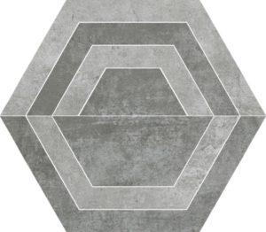 Dekoracja podłogowa Paradyż Scratch Grys Heksagon C 26x29,8cm Mat