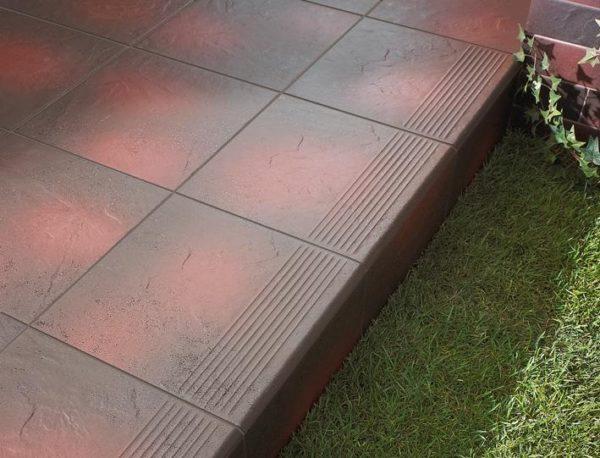 Zdjęcie Stopnica z kapinosem narożna  Paradyż Semir Rosa 33x33x1,1