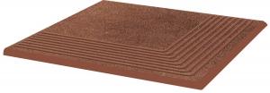 Stopnica ryflowana narożna Paradyż Taurus Brown 30x30x1,1