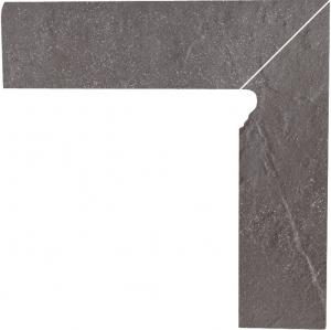 Cokół dwuelementowy schodowy Paradyż Taurus Grys prawy 30x8,1x1,1