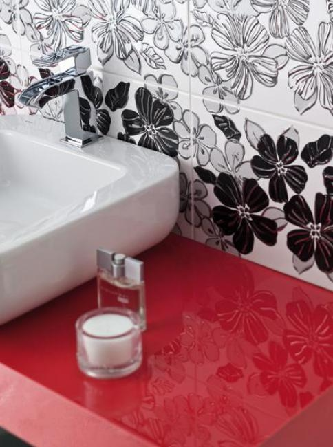 Zdjęcie Listwa szklana uniwersalna Paradyż Red 3×40