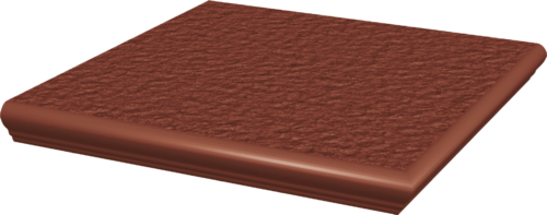 Stopnica narożna Paradyż 330x330x11 z kapinosem strukturalna Natural Rosa Duro