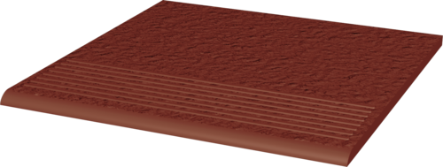 Stopnica ryflowana Paradyż 300x300x11 prosta strukturalna Natural Rosa Duro