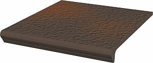 Stopnica prosta Paradyż 300x330x11 z kapinosem strukt. Natural Brown Duro