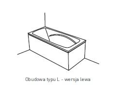 Obudowa jednoczęściowa typu L Pool-Spa 140x70 lewa do wanny Klio PWOHD..OWL00000