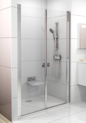 Drzwi prysznicowe Ravak Chrome CSDL2-90 bright alu Transparent 0QV7CC0LZ1