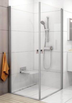Kabina prysznicowa narożna Ravak Chrome CRV1-80 chrom połysk Transparent 2x1QV40C01Z1