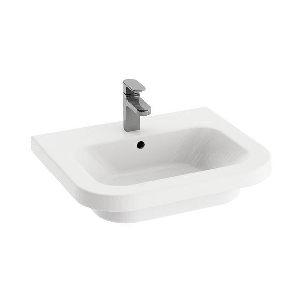 Umywalka podwieszana Ravak Chrome 550 ceramiczna biała XJG01155000