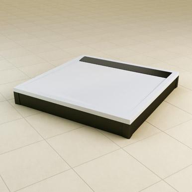 Brodzik konglomeratowy kwadratowy SanSwiss Ronal Ila WIQ 90x90 biały WIQ0900404