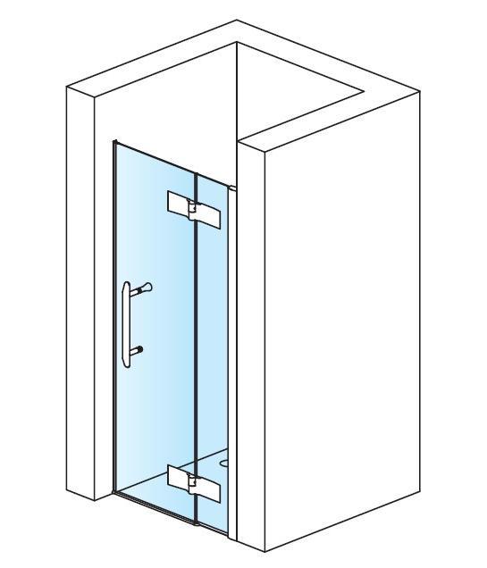 Zdjęcie Drzwi jednoczęściowe skrzydłowe do wnęki Sanswiss Ronal Pur Light PLPD08005007 80cm Prawe^ @