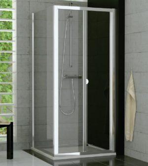 Drzwi dwuczęściowe przesuwno-składane SanSwiss Ronal Top-Line 100cm połysk TOPK10005007
