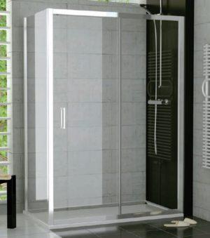 Drzwi dwuczęściowe suwane SanSwiss Ronal Top-Line 120cm mat TOPS212000107