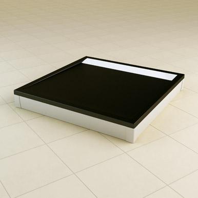 Brodzik konglomeratowy kwadratowy SanSwiss Ronal Ila WIQ 80x80 czarny WIQ08004154