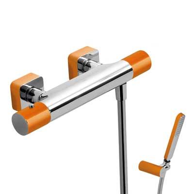 Zestaw natryskowy termostatyczny Tres Loft colors pomarańczowy 20016409NA