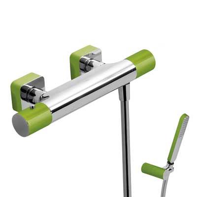 Zestaw natryskowy termostatyczny Tres Loft colors zielony 20016409VE