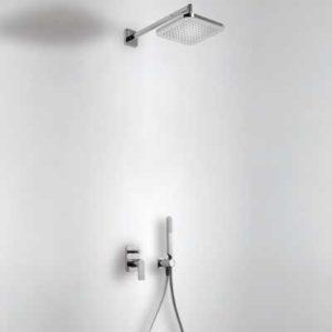 Zestaw natryskowy Tres Loft z deszczownicą i baterią podtynkową 20018002