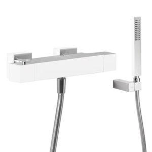 Zestaw wannowy termostatyczny Tres Slim exclusive biały-chrom 20217409BL