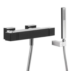 Zestaw wannowy termostatyczny Tres Slim exclusive czarny-chrom 20217409NE