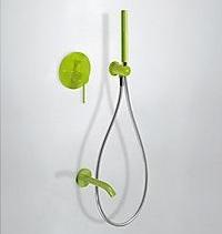 Zestaw prysznicowy z baterią podtynkową Tres Study-Colors zielony 262.180.03.TV.E @ ^