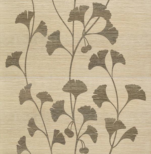 Dekoracja ścienna 2-elementowy Tubądzin Biloba beige 60,8x61,8