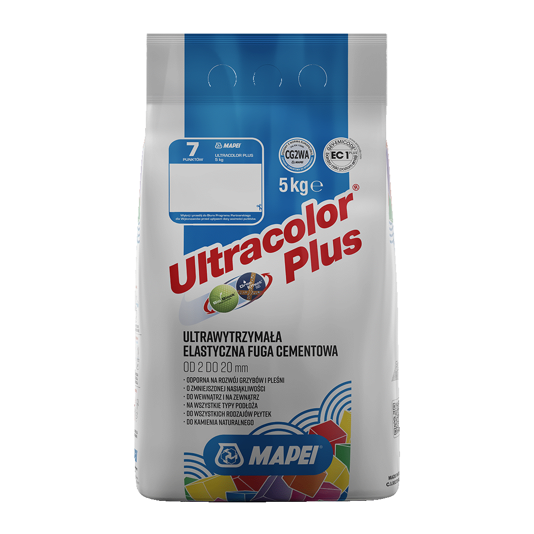 Fuga Mapei Ultracolor Plus 5 kg, 111 Srebrna