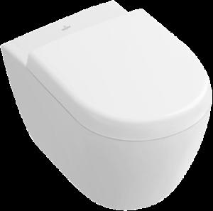 Miska WC wisząca + deska wolnoopadająca Villeroy Boch Subway 2.0 Compact bez kołnierza wewnętrznego 5606R001+9M69S101 + uszczelka wygłuszająca GRATIS