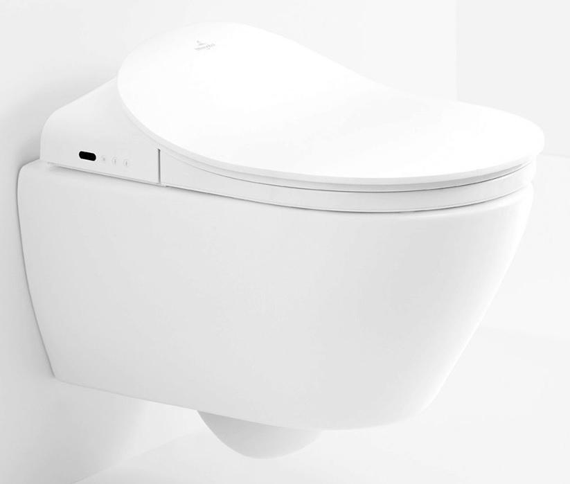 Miska WC wisząca z deską myjącą Villeroy Boch ViClean Ceramicplus DirectFlush V9901900+V02EL401 +5614R5R1 + uszczelka wygłuszająca GRATIS