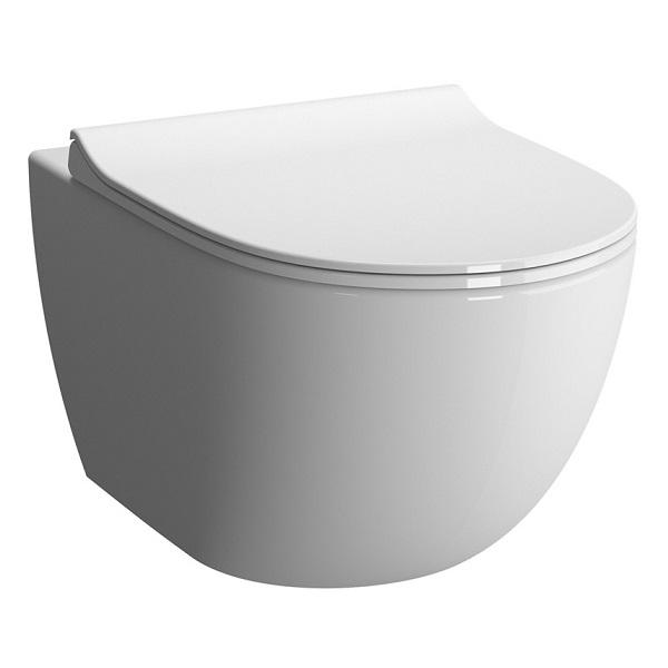 Miska WC wisząca + deska wolnoopadająca Vitra Sento RIM-EX bezrantowa 7748B003-0075+100-003-009