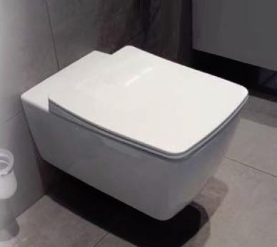 Miska wisząca WC z deską wolnoopadającą Vitra Metropole Slim długa 56x36cm 5676B003-0075+102-003-009 @