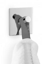 Wieszak łazienkowy kwadratowy polerowany ZACK DUPLO 40071