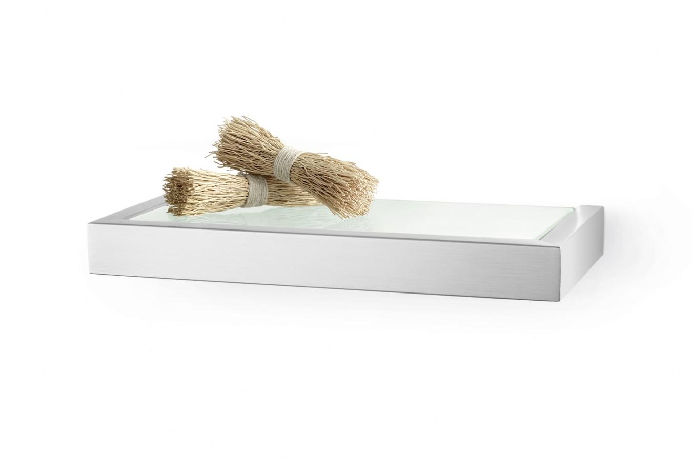 Półka łazienkowa szklana ZACK LINEA 26cm 40383