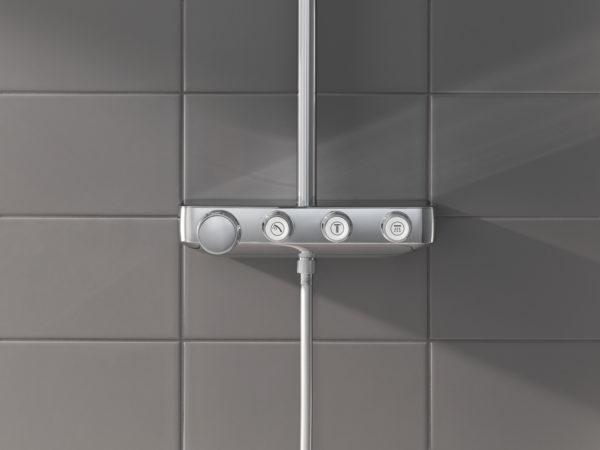 Zdjęcie GROHE Euphoria SmartControl 310 Cube Duo – termostatyczny system prysznicowy 26508000 .