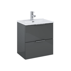 Set szafka podumywalkowa+umywalka Elita STREET PLUS 50 2S Antracyt 50x53x34cm 166285
