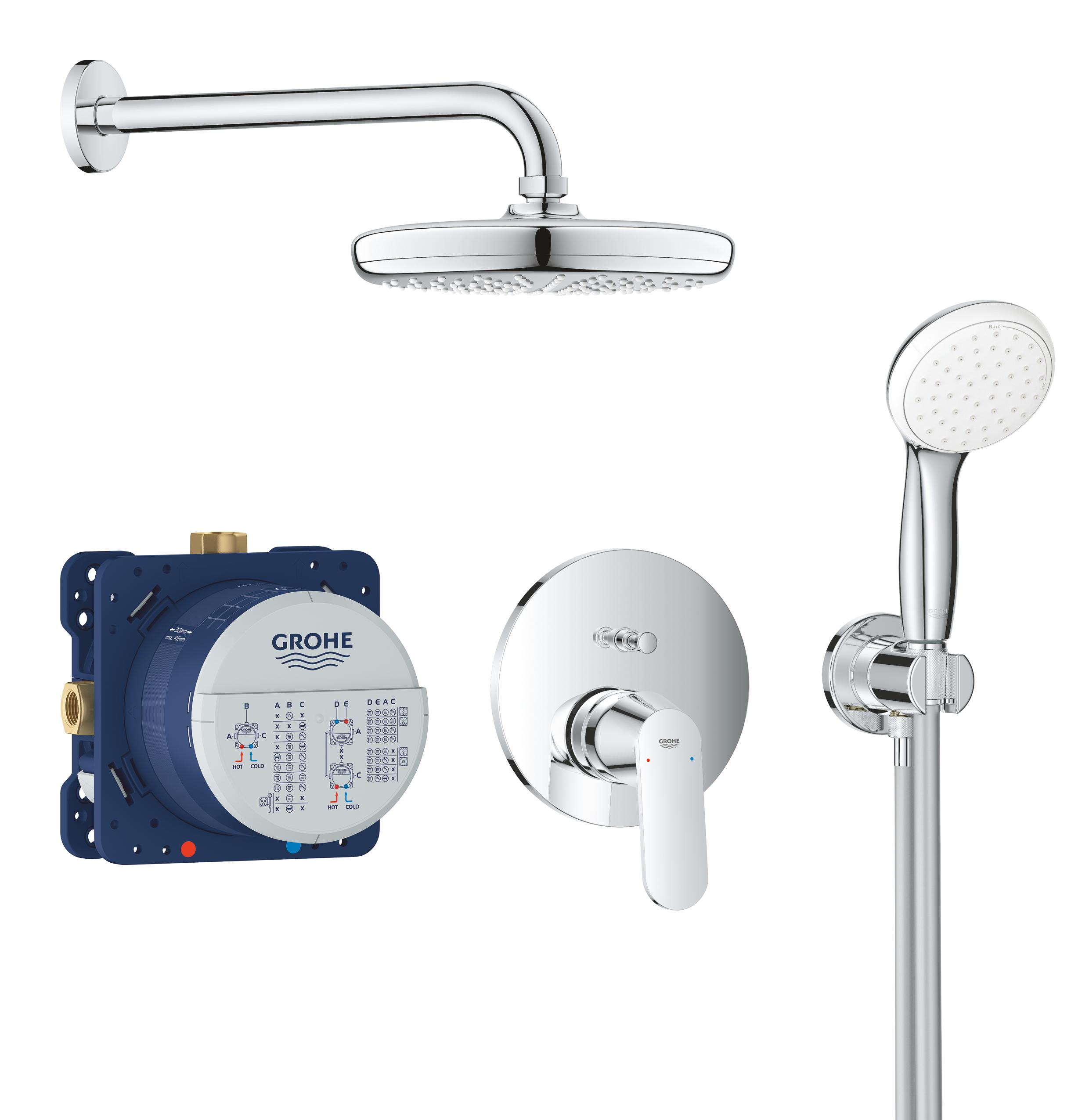 GROHE Eurosmart Cosmopolitan - podtynkowy system prysznicowy 25219001 .