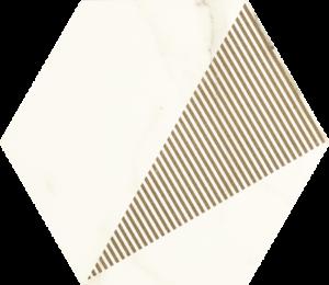 Hexagon C Paradyż Calacatta Mat 17,1x19,8cm
