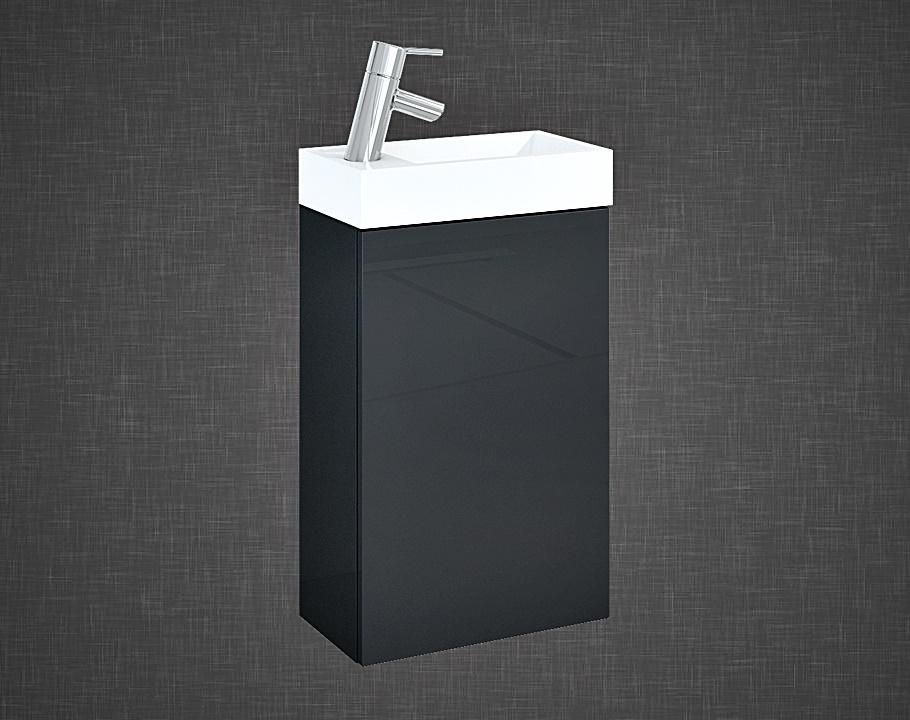 Set szafka podumywalkowa+umywalka Elita YOUNG BASIC 40 1D Antracyt 40x68x22cm 166042