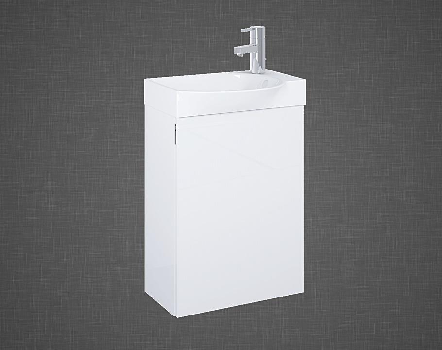 Set szafka podumywalkowa+umywalka Elita RAVELL 45 1D Biała HG 44x60x24cm 166239