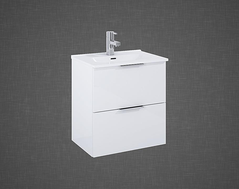 Set szafka podumywalkowa+umywalka Elita STREET PLUS 50 2S Biała 50x53x34cm 166283