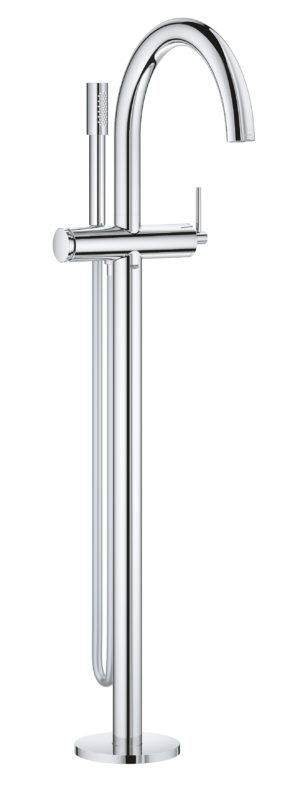 GROHE Atrio - jednouchwytowa bateria wannowa do montażu podłogowego z zestawem punktowym chrom 32653003