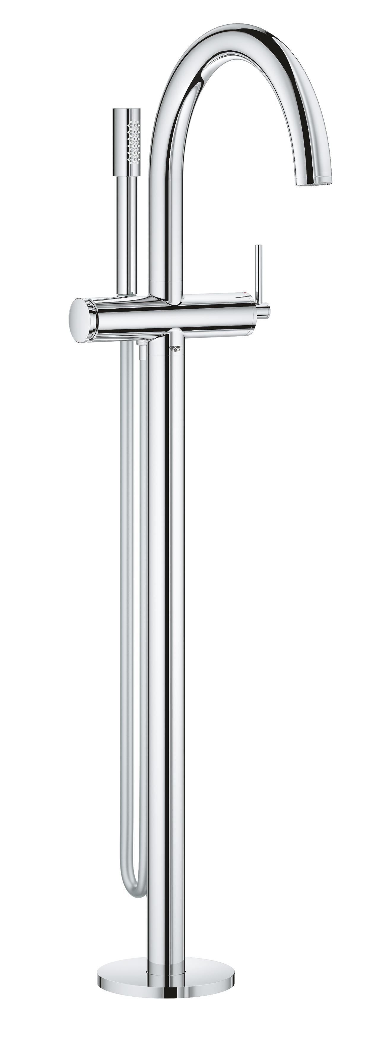 GROHE Atrio - jednouchwytowa bateria wannowa do montażu podłogowego z zestawem punktowym chrom 32653003 .