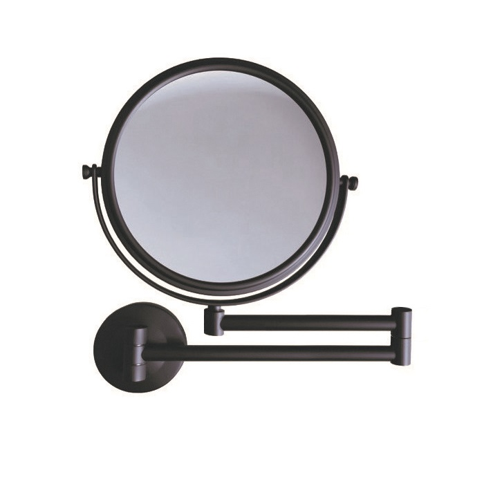 Lusterko kosmetyczneproste Stella powiększ. 3X, uchylne, podwójne ruchome ramię Stella czarny mat 22.01130-B _