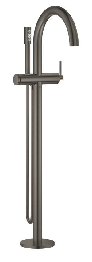 GROHE Atrio - jednouchwytowa bateria wannowa do montażu podłogowego z zestawem punktowym brushed hard graphite 32653AL3