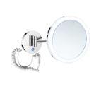 Lusterko kosmetyczne powiększ. 3x, okrągła akrylowa ramka z podświetl. LED  na sensor dotyk Stella chrom 22.00431 _