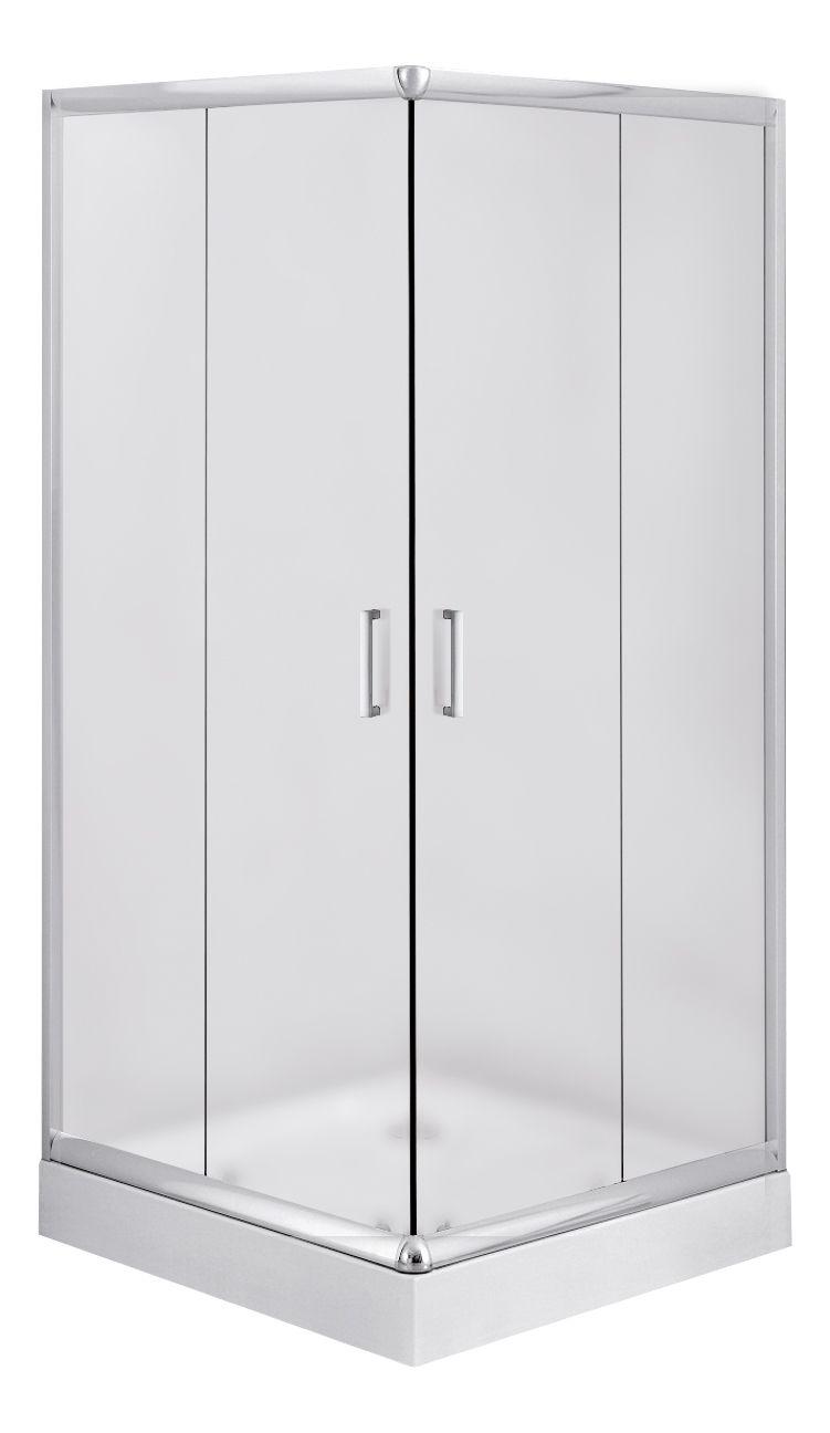 Deante Funkia Kabina kwadratowa 80 cm, szkło szronione KYC_642K