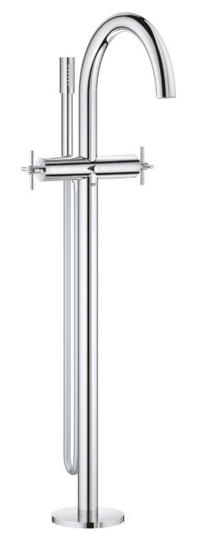 GROHE Atrio - 2-uchwytowa bateria wannowa do montażu podłogowego z zestawem punktowym chrom 25044003